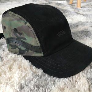 Vans sidestripe 5 panel hat blackcamo